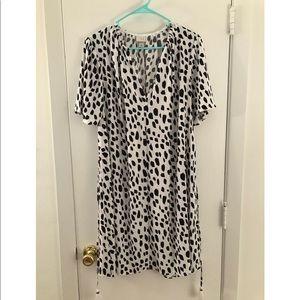 A New Day Black Polka Dot Dress